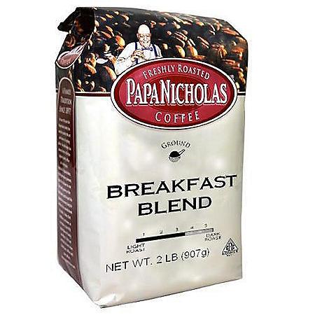 PapaNicholas Ground Coffee, Breakfast Blend (2 lb.)
