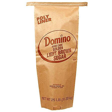 Domino Light Brown Sugar (25 lb.)
