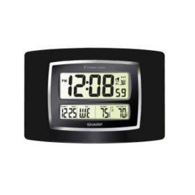 Sharp Digital Atomic Wall Clock - Black