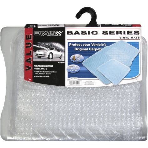 Rally Basic Series Vinyl Mats - 4 pc. set