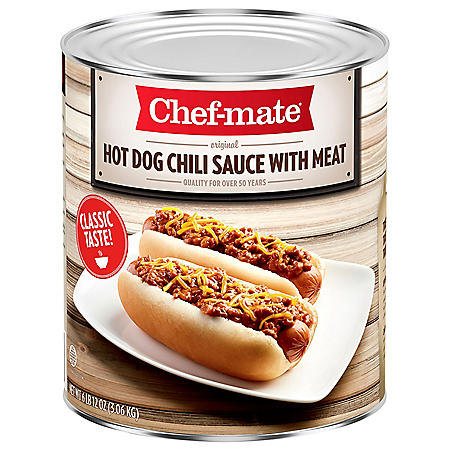 Chef-mate Hot Dog Chili Sauce With Beef (108 oz.)
