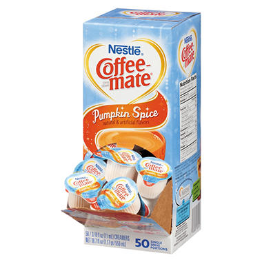 Liquid Coffee Creamer, Pumpkin Spice (0.375 oz. mini cups, 50 ct.)