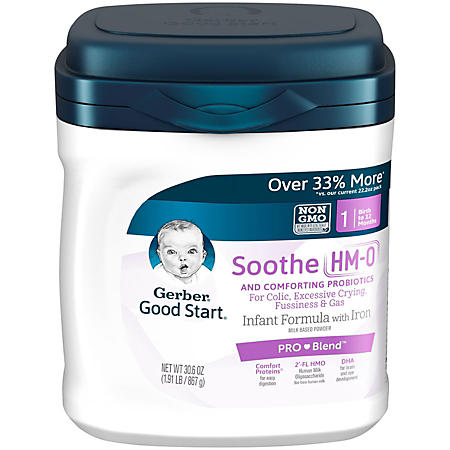 Gerber Good Start Soothe Powder Infant Formula, Stage 1 (30.6 oz., 4 pk)