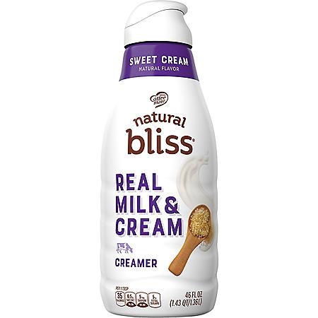 Coffee-mate Natural Bliss Liquid Coffee Creamer, Sweet Cream Flavor (46 fl. oz.)
