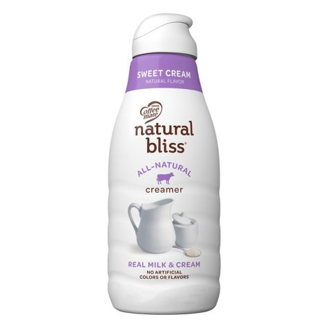 Coffee-mate Natural Bliss Liquid Coffee Creamer, Sweet Cream Flavor (46 fl. oz.)