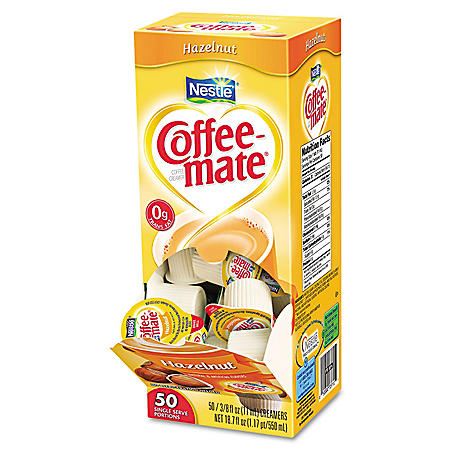 Nestle Coffee-mate Liquid Creamer Singles, Hazelnut (50 ct.)