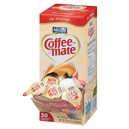 Nestle Coffee-mate Liquid Creamer Singles, Original (50 ct.)