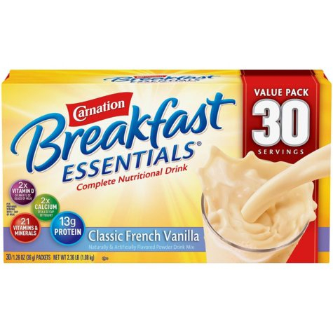 Carnation Breakfast Essentials Nutritional Drink Mix, Select Flavor (30 ct.)