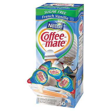 Nestle Coffee-mate Creamer Tubs, French Vanilla, Sugar-Free (50 ct.)