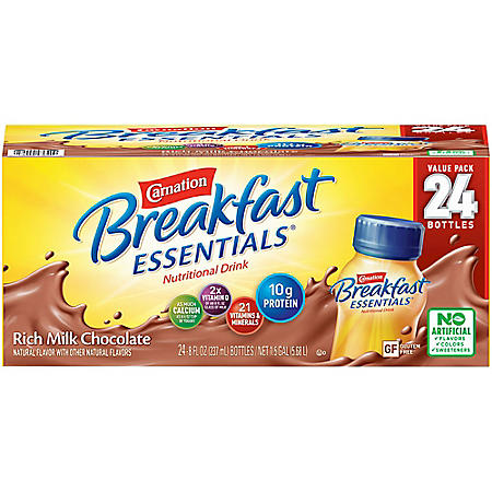 Carnation Breakfast Essentials Ready To Drink, Rich Milk Chocolate (8 oz., 24 pk.)