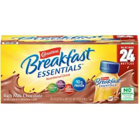 Carnation Breakfast Essentials Ready To Drink, Rich Milk Chocolate (8 oz., 24 pk.)