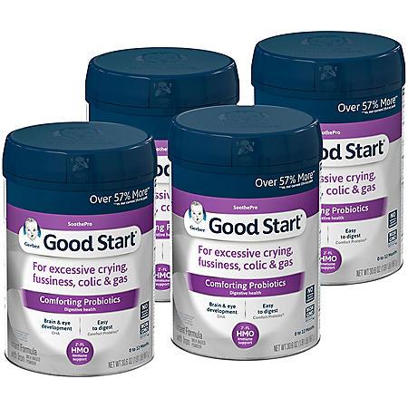 Gerber Good Start Soothe Powder Infant Formula, Stage 1 (30.6 oz., 4 pk)