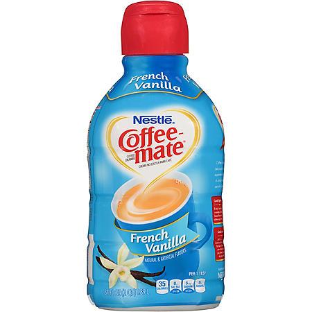 Coffee-mate French Vanilla Liquid Coffee Creamer (64 oz.)