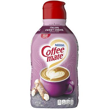 Nestle Coffee Mate Italian Sweet Creme Liquid Coffee Creamer 64 Fl