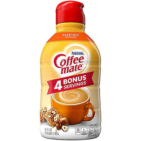 Coffee-mate Hazelnut Liquid Coffee Creamer (66 fl. oz.)