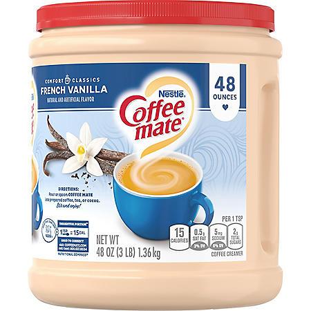 Nestle Coffee-mate Powder, French Vanilla (48 oz.)