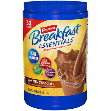 Carnation Breakfast Essentials Nutritional Drink (2.61 lb. canister)