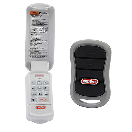 Genie Garage Door Opener 3-Button Remote and Wireless Keypad with Intellicode Technology Combo Pack