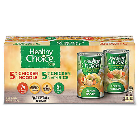 Healthy Choice Soup Variety Pack (15 oz., 10 pk.)