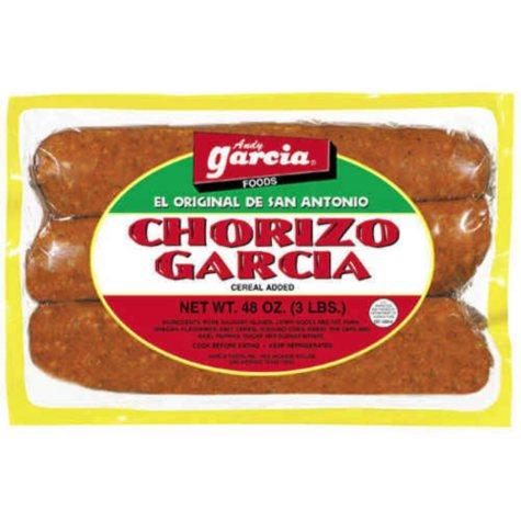 Chorizo Garcia Pork - 3 lbs.