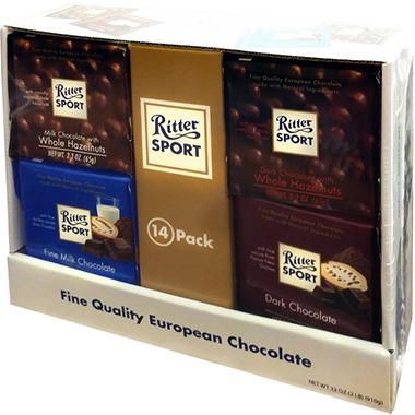 Ritter Sport King Bar Variety Pack (14 ct./ 2.3 oz. each)