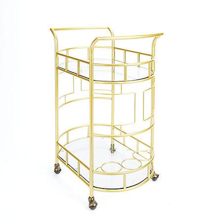 Sinclair Bar Cart, Gold
