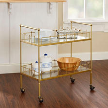 Fitz Bar Cart, Gold