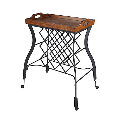 Hawthorne Console Table and Wine Rack