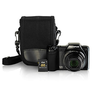 Olympus SZ-15 16MP Camera Bundle with 4GB SD Card and Camera Case
