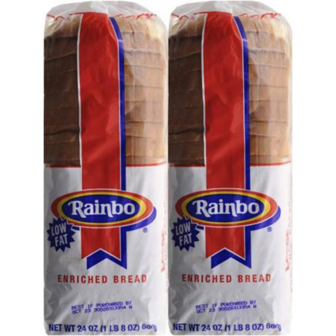 Rainbo White Sliced Bread - 24 oz.- 2 pk.