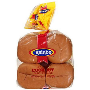 Rainbo Enriched Buns (5 in., 8 ct.)