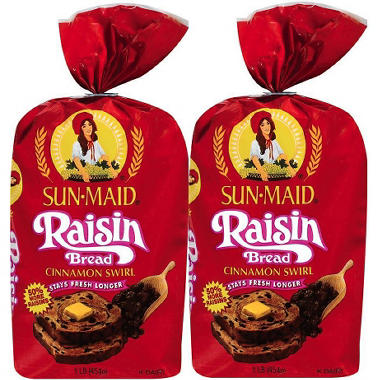 Sun-Maid Raisin Bread - 16 oz. - 2 pk.