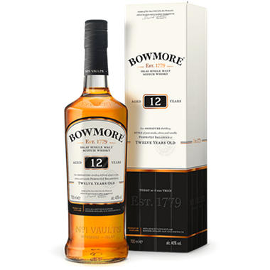 Bowmore 12 Year Old Islay Single Malt Scotch Whisky (750 ml)