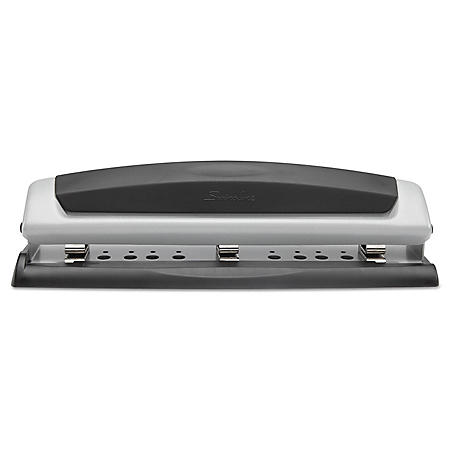 "Swingline - 10-Sheet Precision Pro Desktop Two- and Three-Hole Punch -  9/32"" Holes"