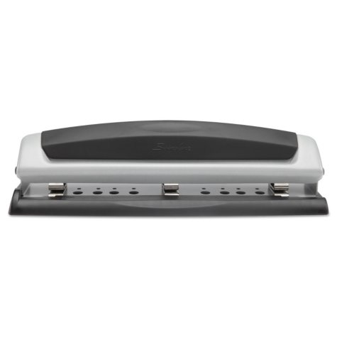 """Swingline - 10-Sheet Precision Pro Desktop Two- and Three-Hole Punch -  9/32"""" Holes"""