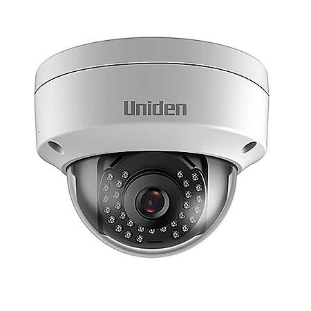 Uniden All-In-One Outdoor Dome Camera, DVR-Less Recording, 1080p resolution, 100' Night Vision, Weatherproof, Power with PoE or with included 12V adapter & 100' Ethernet cable