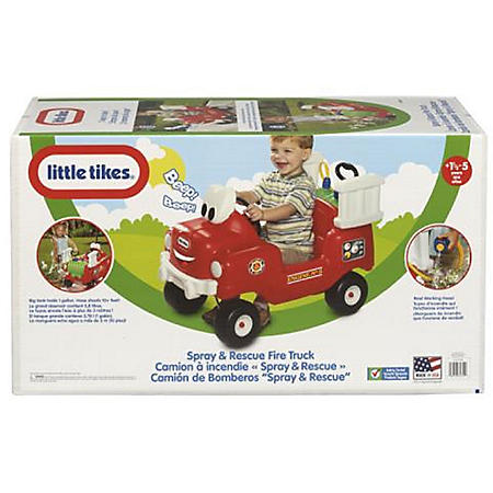 Little Tikes Spray & Rescue Fire Truck Foot to Floor Ride-On