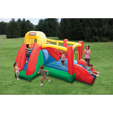 Little Tikes Double Fun Slide-N-Bounce Bouncer