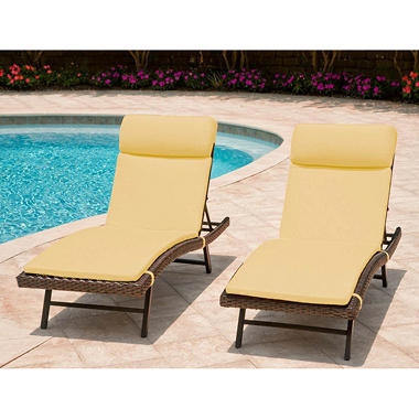 wicker cushions patio furniture outdoor for replacement chaise