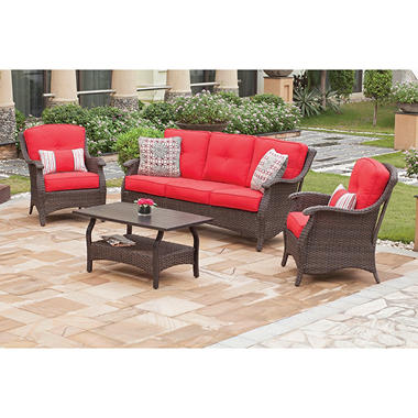 Bon Santa Barbara 4piece Deep Seating Set. Sams Club Wrought Iron Patio  Furniture
