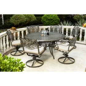 Round Table Patio Dining Sets.Agio Rochester 7pc Round Dining Set Sam S Club