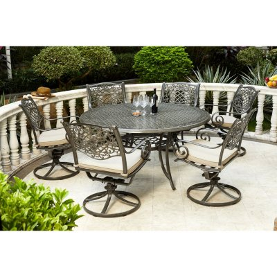 Agio Rochester 7pc Round Dining Set