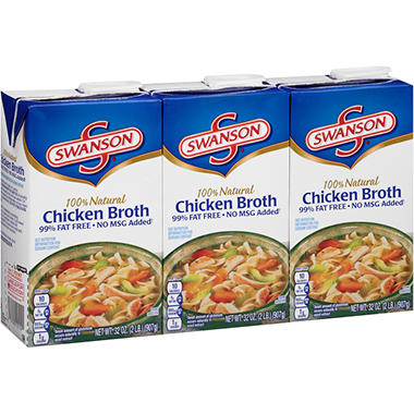 Swanson Chicken Broth (32 oz, 3 ct.)