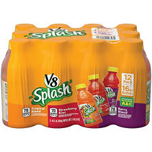 V8 Splash Variety Pack (16 oz. bottles, 12 ct.)