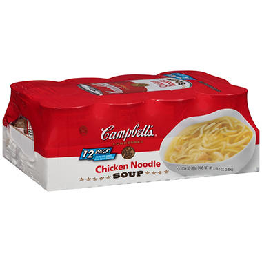 Campbell's Condensed Chicken Noodle Soup (10.75 oz. can, 12 ct.)