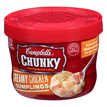 Campbell's Chunky Creamy Chicken & Dumplings Soup (15.25 oz., 8ct.)