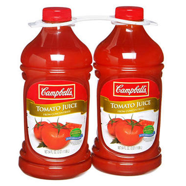 Campbell's Tomato Juice (64 oz. bottle, 2 ct.)