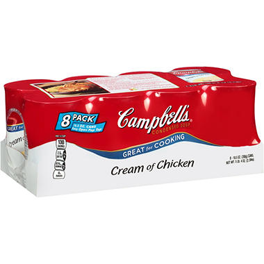 Campbell's Condensed Cream of Chicken Soup (10.75 oz., 8 ct.)