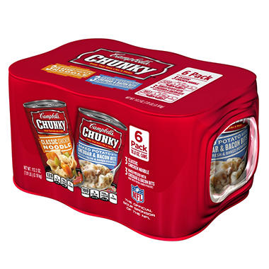 Campbell's Chunky Chicken Noodle Soup and Baked Potato Soup - 18.8 oz. - 6 pk.