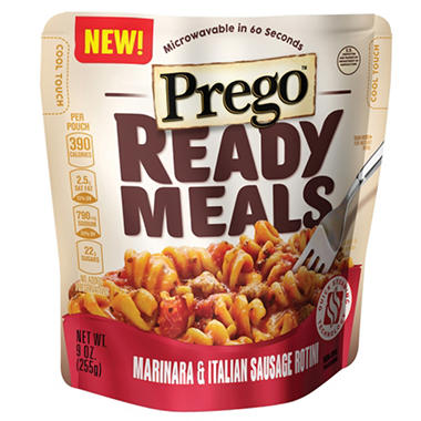 Prego Ready Meals Marinara & Italian Sausage Rotini (9 oz. 6 ct.)